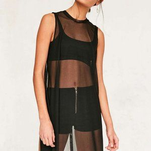 Urban Outfitters SILENCE + NOISE black mesh dress